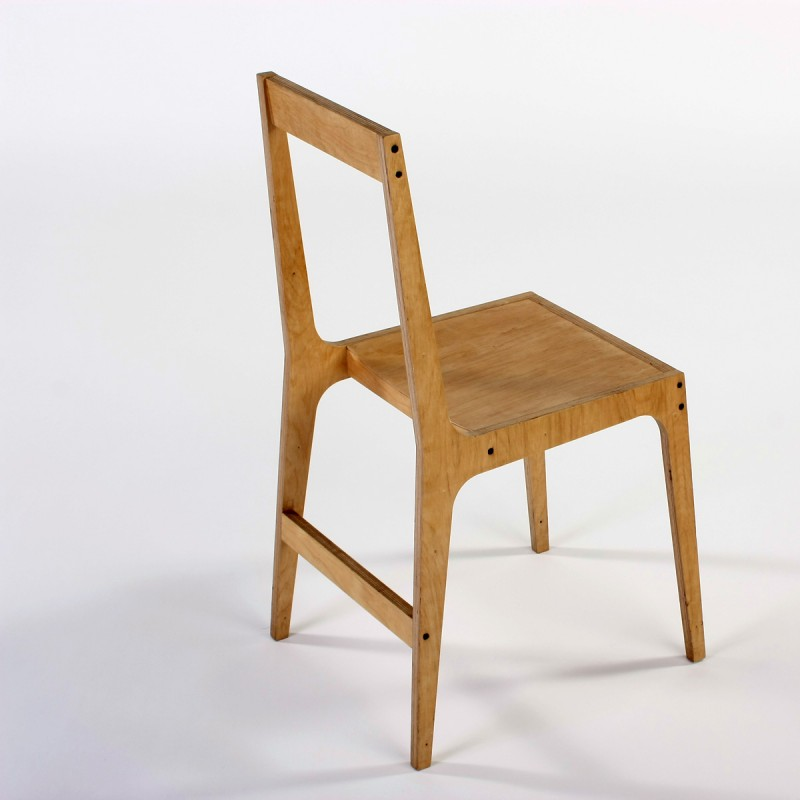vic open back plywood chair alex hellum